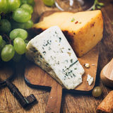 Blue cheese close-up Stock Photo