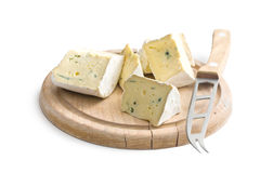 Blue cheese on cutting board Stock Photography