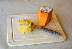 Blue Cheese on Cuttinh Board Royalty Free Stock Image