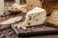 Blue cheese delicious cheese Royalty Free Stock Photos