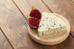 Blue cheese with figs Stock Photography