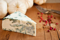 Blue cheese and garlic Royalty Free Stock Images
