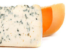 Blue cheese and Gouda Stock Images