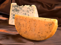 Blue cheese and Gouda Royalty Free Stock Images