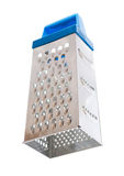 Blue cheese grater on a white background Stock Photography