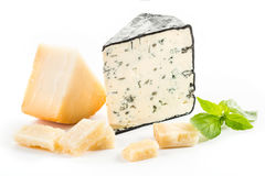 Blue cheese isolated. On white Stock Photography