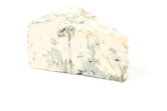 Blue cheese isolated on white Royalty Free Stock Image