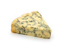 Blue cheese over white Stock Images
