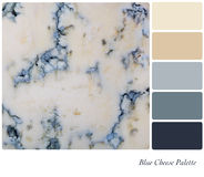 Blue Cheese Palette Royalty Free Stock Image