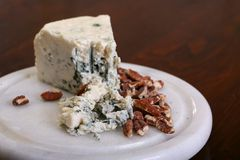 Blue Cheese and pecans Royalty Free Stock Photos