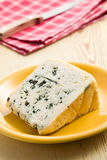 Blue cheese on plate Stock Images