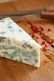 Blue cheese and red pepper Stock Photos
