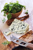 Blue cheese Roquefort and rocket salad Stock Photo
