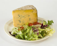 Blue cheese and salad Royalty Free Stock Photography