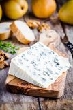 Blue cheese slice Royalty Free Stock Image