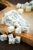 Blue cheese on slices of brokenness Stock Photo