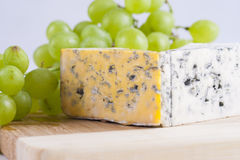 Blue cheese. Slices composition with some food ingredients Royalty Free Stock Photos