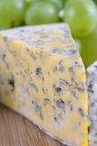 Blue cheese. Slices composition with some food ingredients Royalty Free Stock Photo