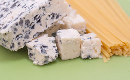 Blue cheese and spaghetti Stock Photography