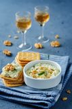 Blue cheese spread with walnuts Stock Photography