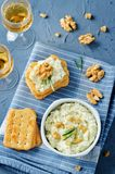 Blue cheese spread with walnuts Royalty Free Stock Images