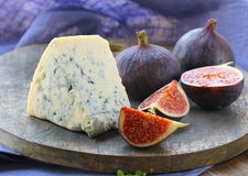Blue cheese and sweet fruit  figs Royalty Free Stock Photo
