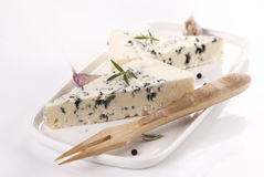 BLUE CHEESE. Tasty blue cheese with spices royalty free stock images