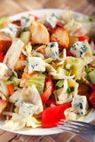 Blue cheese and tomatos salad Royalty Free Stock Photography