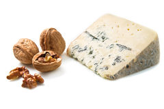 Blue cheese with walnut Royalty Free Stock Photo