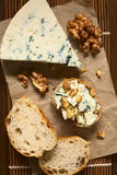 Blue Cheese and Walnut Canape Royalty Free Stock Photos