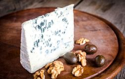Blue cheese with walnuts Royalty Free Stock Photography