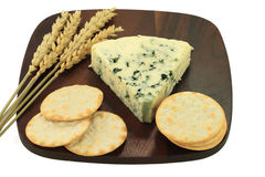 Blue Cheese and Water Crackers. Stock Images