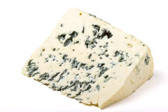 Blue cheese wedge Royalty Free Stock Photography