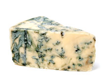 Blue cheese on white background Royalty Free Stock Photography