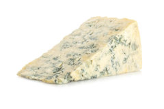 Blue Cheese on White Royalty Free Stock Photos