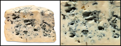 Blue cheeses Stock Images