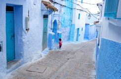 Blue Chefchaouen city in Morocco, Africa Stock Photo