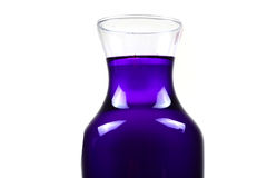 Blue chemical bottle Stock Photography