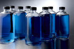 Blue chemicals Royalty Free Stock Photo