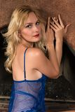 Blue chemise Stock Photos
