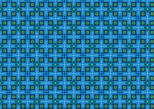 Blue Chequered Background. A background pattern in green and blue squares ideal as a texture Stock Images