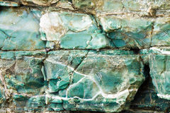 Blue chert layers closeup at Rainbow Rock, Oregon Royalty Free Stock Photography