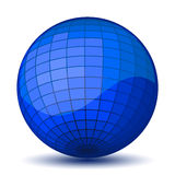 Blue chessboard ball. Vector Royalty Free Stock Photo