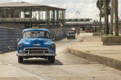 Blue Chevrolet 50s taxi Havana Stock Images