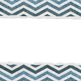 Blue Chevron Torn Background for your message or invitation Royalty Free Stock Photo