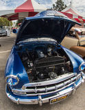 Blue Chevy. Classic blue Chevy on  display at the California State Fair in Sacramento, California Stock Image