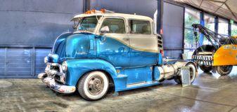 Blue Chevy truck Royalty Free Stock Image