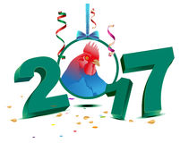 Blue chicken symbol 2017 Stock Images