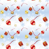 Blue Child Christmas Wrapping Paper Stock Photo