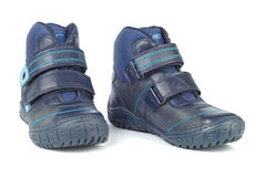 Blue Child Footwear Royalty Free Stock Images